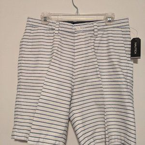 Nautica 32 inch Deck Short Blue and White Stripe